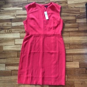 Ann Taylor Sheath Dress.  Coral. Size 14 NWT